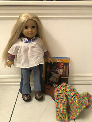 "American Girl Julie Albright 18"" Doll and AG Guitar"