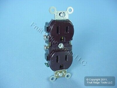 Leviton Brown COMMERCIAL Outlet SMOOTH FACE Duplex Receptacle 15A CR015
