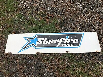 Starfire Tires Sign Double Sided