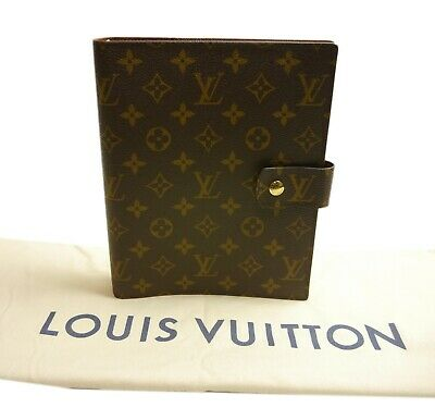 Authentic LOUIS VUITTON Agenda GM notebook cover PVC #3200