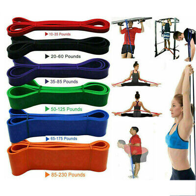 Resistance Bands Pull Up Exercise Loop Sports Strength Weight Gym Fitness Band