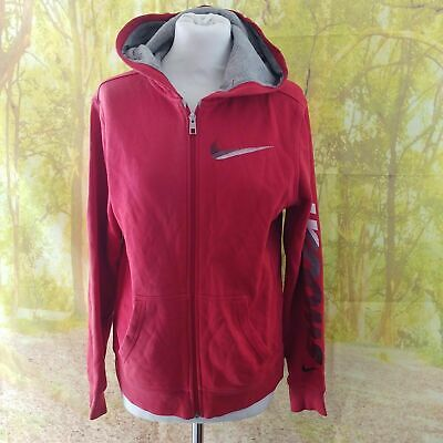 "Nike Red Swoosh Cotton Hoodie, 20"" pit to pit, 25"" length, Age 13-15"