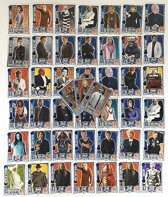 Large Job Lot of Dr Who Alien Attax Cards inc Foils x 45 as Pictured