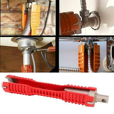 Red Faucet Installer Multi tool Pipe Wrench For Household Bathroom Installer