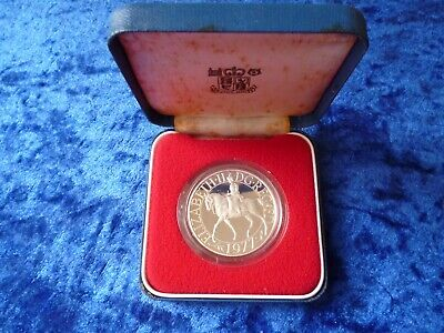 United Kingdom 1977 Silver Proof Crown Cased Coin Silver Jubilee