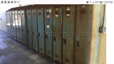 fire house bunker gear locker outside vintage patina inside very clean