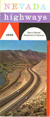 1956 Nevada Official Road Map from State Highway Department