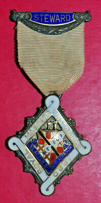 1920 Royal Masonic Institution for Girls festival stewards jewel RMIG silver