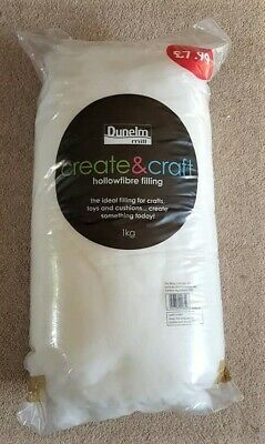 Dunelm Hollowfibre Filling For Soft Toys, Cushions Etc. 1Kg Unused
