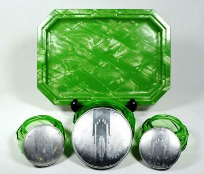 Art Deco Halex Lucite & Glass Dressing Table/Vanity/Grooming Set 1930s