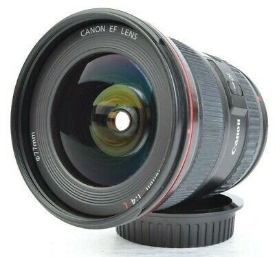 Canon EF 17-40mm f/4 L USM Ultrasonic Wide-Angle Zoom Lens for EOS w/ Caps #E566