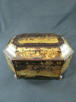 Chinese Lacquer Lidded Box c.1910-20