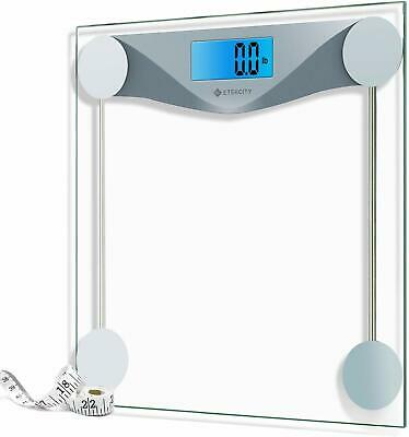Etekcity Digital Body Weight Bathroom Scale with Body Tape Measure, 8mm Tempered