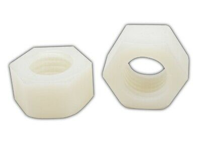 5/8-11 Coarse Finished Hex Nut Natural Nylon