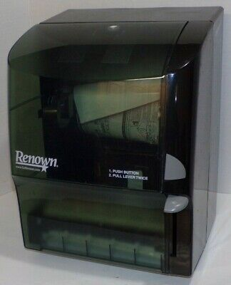 Renown Y Notch Button Lever Roll Paper Towel Dispenser REN05159 05159 AmSan