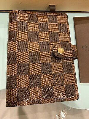 Authentic Louis Vuitton Agenda PM Damier Ebene CA1003 Excellent Condition! W/box