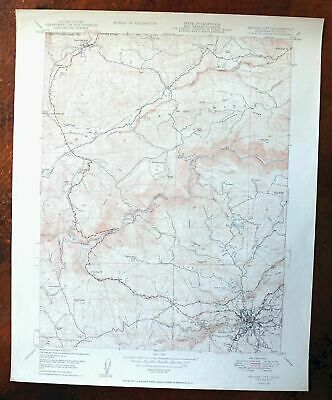1950 Nevada City California Vintage USGS Topo Map Tahoe NF Topographical