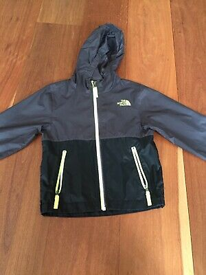 The North Face Boys Hooded Light Weight Jacket - Size 5 - Black And Grey