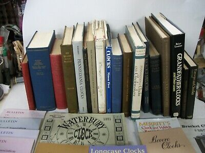 LOT VINTAGE CLOCK HISTORY AND REPAIR BOOKS Great Shape