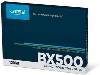 """Crucial by Micron 120 GB 2.5"""" 3D Nand SSD Drive - BX500 - CT120BX500SSD1- New"""
