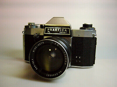 PRAKTICA Nova PL 35mm Film Camera with Hanimex 28mm/f2.8 Lens