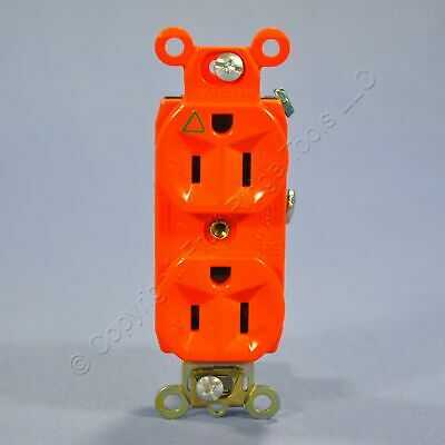 Pass & Seymour Orange ISOLATED GROUND Duplex Outlet Receptacle 15A Bulk IG6200