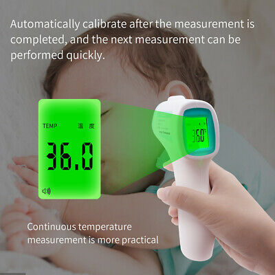 IR Infrared Digital Forehead Fever Thermometer Non-Contact Baby & Adult Body US