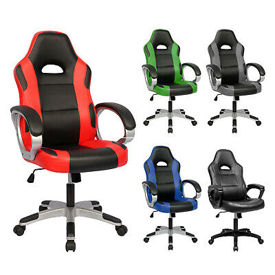 Executive Racing Gaming Office Chair Computer Desk Chair Swivel Sport PU Leather