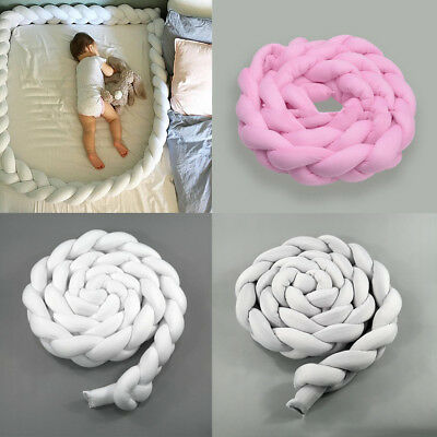 2M Kids Baby Plush Crib Car Bed Linen Cot Braid Pillow Pad Protection Safety Aid
