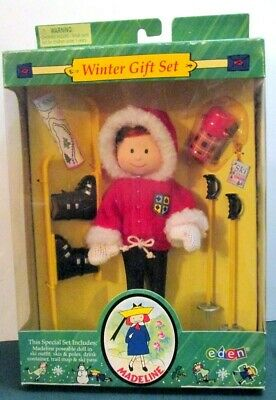 "Madeline Doll 8"" - ""SNOW SKIING"" WINTER GIFT SET -NIB RARE"