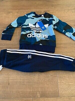 Adidas Originals Camo Crew Neck Track Suit Boys /girls 3-4 Years Brand New