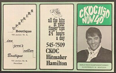 1970 CKOC Chart Radio Survey Hamilton Music Elvis Presley Beatles Guess Who