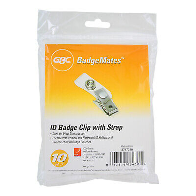 GBC BadgeMates ID Badge Clips, Clear, 1,000 Clips (3747210)