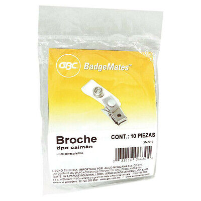 GBC BadgeMates ID Badge Clips, Clear, 100 Clips (3747210)