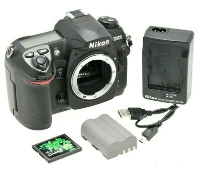 Nikon D200 DSLR Camera Body - Fully working - with Battery, 4GB Card & Charger
