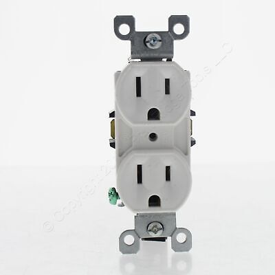 Leviton SCRATCHED White Straight Blade Duplex Receptacle Outlet 5-15R 15A 5248-W