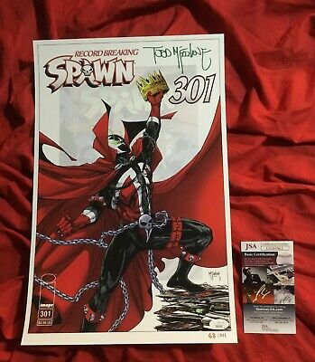 SPAWN #301~#68/301~LIMITED EDITION ART PRINT~SIGNED BY TODD McFARLANE+JSA COA