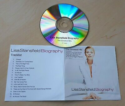 LISA STANSFIELD Biography UK 17-track promo test CD Queen George Michael Coldcut