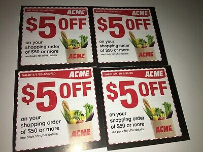(4) $5 Of $50 Acme Coupon Coupons