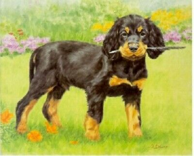 Gordon Setter Puppy Limited Edition Art Print by UK Artist Sue Driver #3