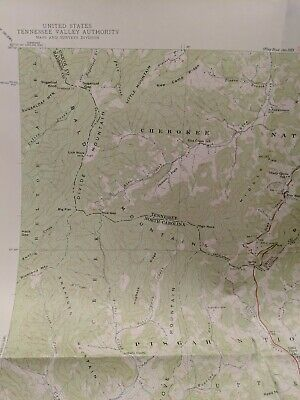 USC&GS,USGS,TVA Quadrangle Map Of Sam's Gap NC-Tenn 1940 Edition.