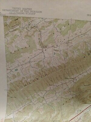 USC&GS,USGS,TVA Quadrangle Map Of Pressmens Home Tennessee 1940 Edition