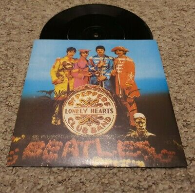 "RARE The Beatles Sgt Peppers Lonely Hearts Club Band R6022 7"" MISSPRESS EX"