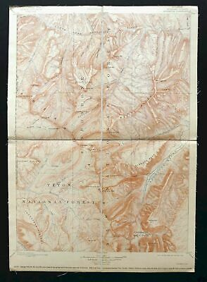Ishawooa Wyoming Antique USGS Reconnaissance Topographic Map 1899