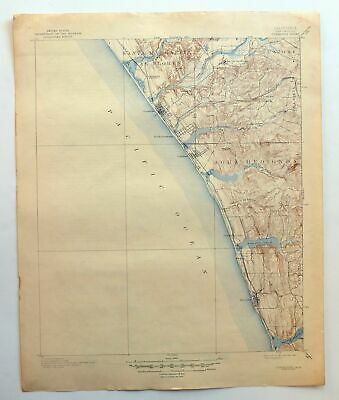 Oceanside California Vintage USGS Topo Map 1901 Encinitas Carlsbad Topographic