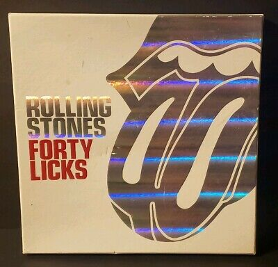 Rolling Stones Forty Licks Special Limited Edition Cd Box Set 2 CDs W/Book Nice!