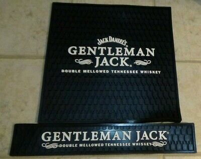 Gentleman Jack Daniel's Whiskey Bar Spill Mats - Lot of 2