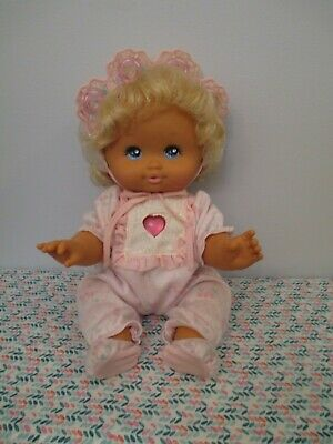 Beautiful, All Original, Working, Baby P.J. Sparkles Baby Doll by Mattel, 1989
