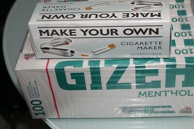500 Gizeh Menthol King Size Make Your Own Concept Cigarette Tubes + Machine