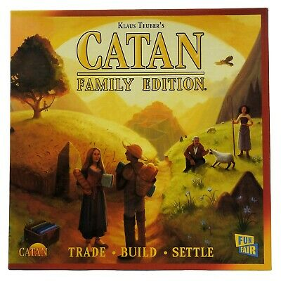 Catan Family Edition Board Game Trade Build Settle Teuber Mayfair 2012 Complete